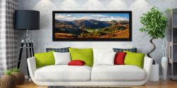 Early autumn in the beautiful Borrowdale Valley - Black oak floater frame with acrylic glazing on Wall