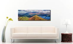 Cat Bells Panorama - Canvas Print on wall