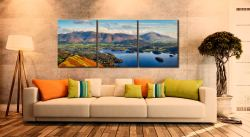 Keswick to Skiddaw - 3 Panel Canvas on Wall