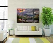 Buttermere Sunrise  - A 3 panel wide centre canvas on Wall