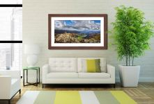 Harrison Stickle Summit View - Framed Print with Mount on Wall
