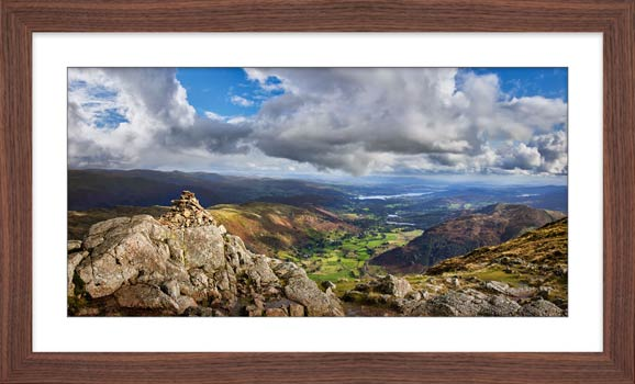 Harrison Stickle Summit View - Framed Print with Mount