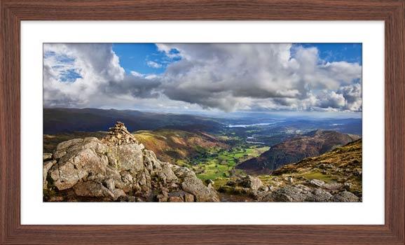 Harrison Stickle Summit View - Framed Print