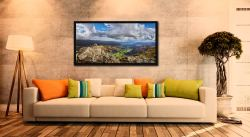 Harrison Stickle Summit View - Black oak floater frame with acrylic glazing on Wall
