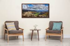 Harrison Stickle Summit View - Walnut floater frame with acrylic glazing on Wall