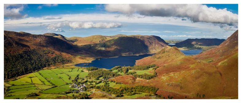 Buttermere Village Crummock Water - Lake District Print