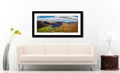 Buttermere Village Crummock Water - Framed Print with Mount on Wall