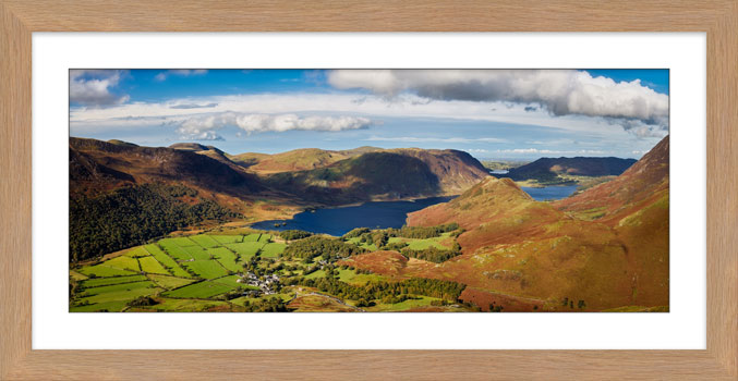 Buttermere Village Crummock Water - Framed Print with Mount