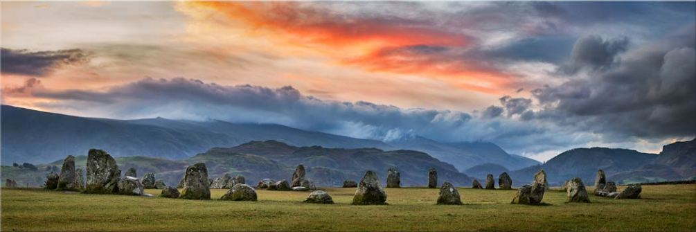 Epic Skies Over Castlerigg - Canvas Print
