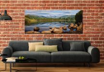 Elterwater Summer Reflections - Canvas Print on Wall