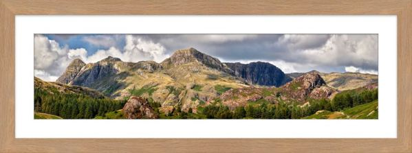 Langdale Pikes and Pavey Ark - Framed Print with Mount