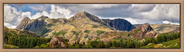 Langdale Pikes and Pavey Ark - Oak floater frame with acrylic glazing