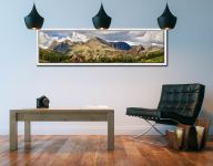 Langdale Pikes and Pavey Ark - White Maple floater frame with acrylic glazing on Wall