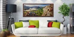 Blea Tarn Summer Panorama - Walnut floater frame with acrylic glazing on Wall