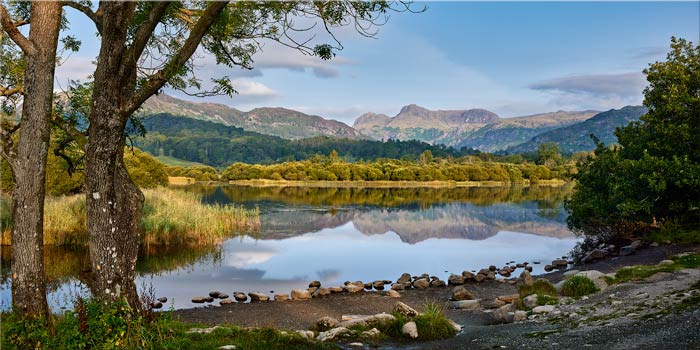 Calm Summer Morning at Elterwater - Canvas Print