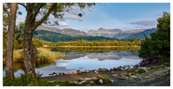 Calm Summer Morning at Elterwater - Lake District Print