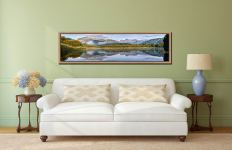 Elterwater Tranquility - Oak floater frame with acrylic glazing on Wall