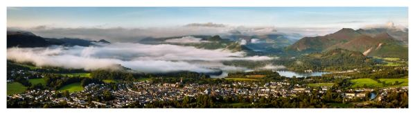 Misty Summer Morning Over Derwent Water - Lake District Print