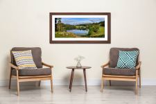 Summer Greens of Loughrigg Tarn - Framed Print with Mount on Wall