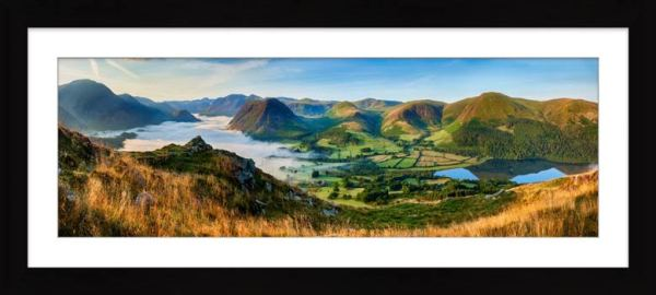 Low Fell Panorama - Framed Print with Mount