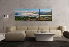 Derwent Water Cloud Inversion - 3 Panel Canvas on Wall