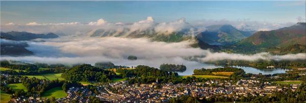 Derwent Water Cloud Inversion - Canvas Print