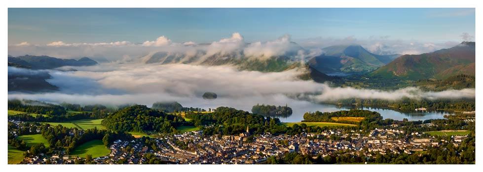 Derwent Water Cloud Inversion - Lake District Print