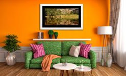 Summer Greens of Blea Tarn - Framed Print with Mount on Wall