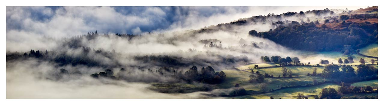 Coniston Moor in the Mist - Lake District Print