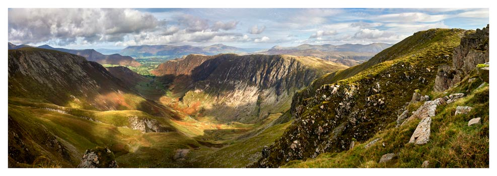 Dale Head Panorama - Lake District Print