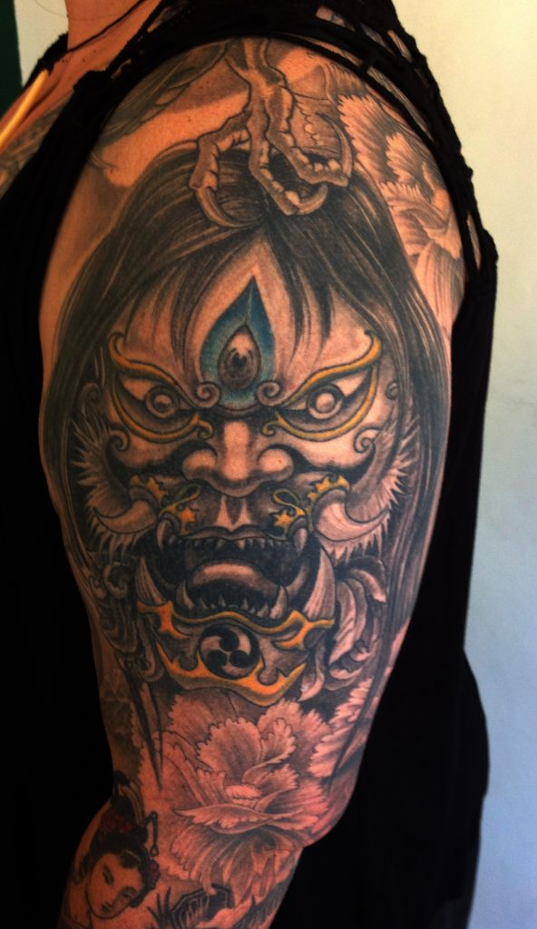 japan demon tattoo Tauranga New Zealand