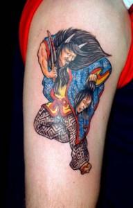 Japanese demon tattoo Tauranga New Zealand