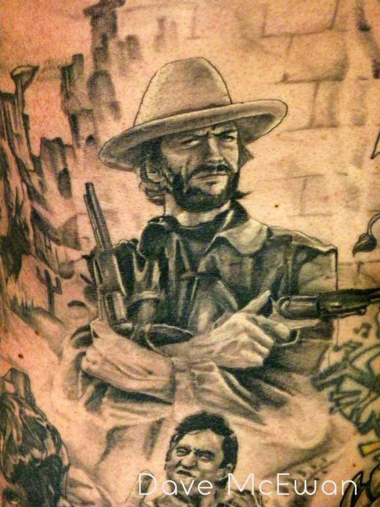 clint eastwood portrait tattoo Tauranga New Zealand