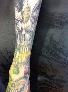 skull tattoo Tauranga New Zealand