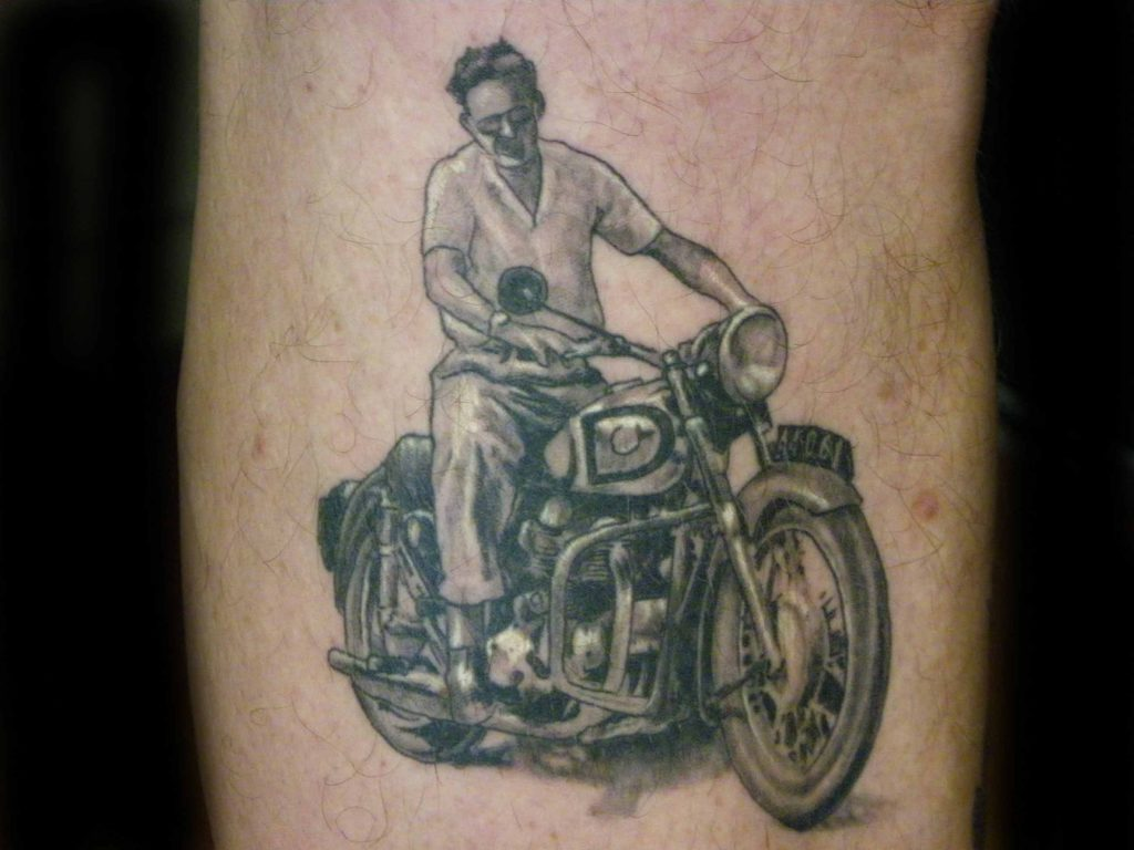 old photo portrait tattoo Tauranga New Zealand
