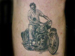old photo portrait tattoo Tauranga New Zealand