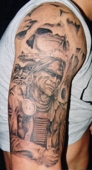 indian tattoo warrior