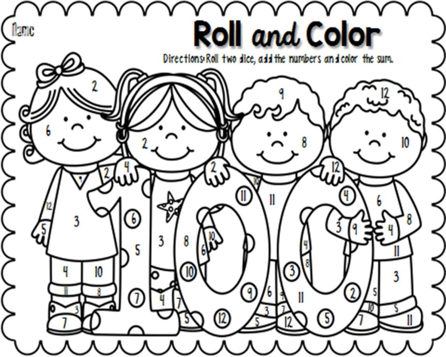 100th Day Of School Coloring Pages 100th Day Coloring Pages Lovely Unique Of School Sheet Collection As