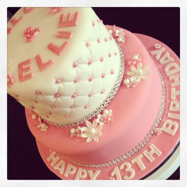 13Th Birthday Cake 13 Girly 13th Birthday Cakes Photo Pretty Birthday Cakes For Teen