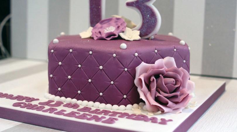 13Th Birthday Cake Pretty 13th Birthday Cake Bakealous
