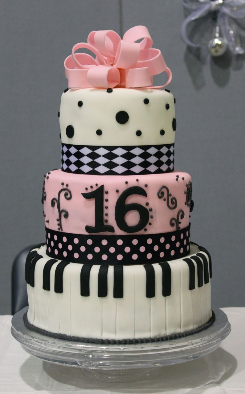 16Th Birthday Cake Ideas 11 Big Boss Sweet 16 Birthday Cakes Pink Cake Photo Pink And Gold