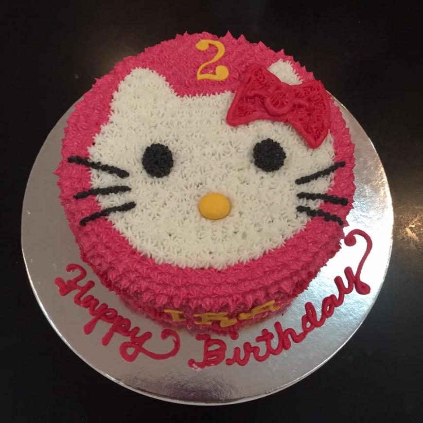 2Nd Birthday Cake Hello Kitty Cake For Iras 2nd Birthday Make It Bliss