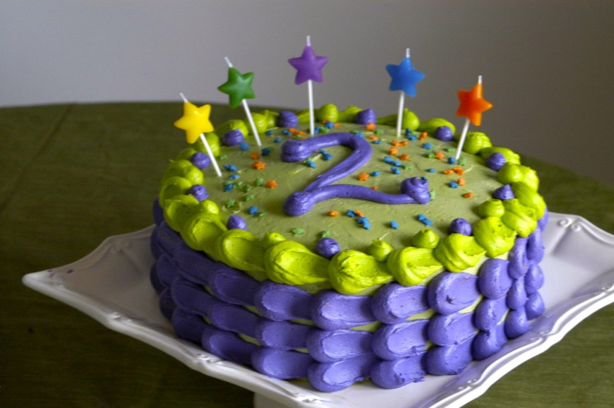 2Nd Birthday Cake Jacks Funfetti 2nd Birthday Cake Hickory Creek Lane