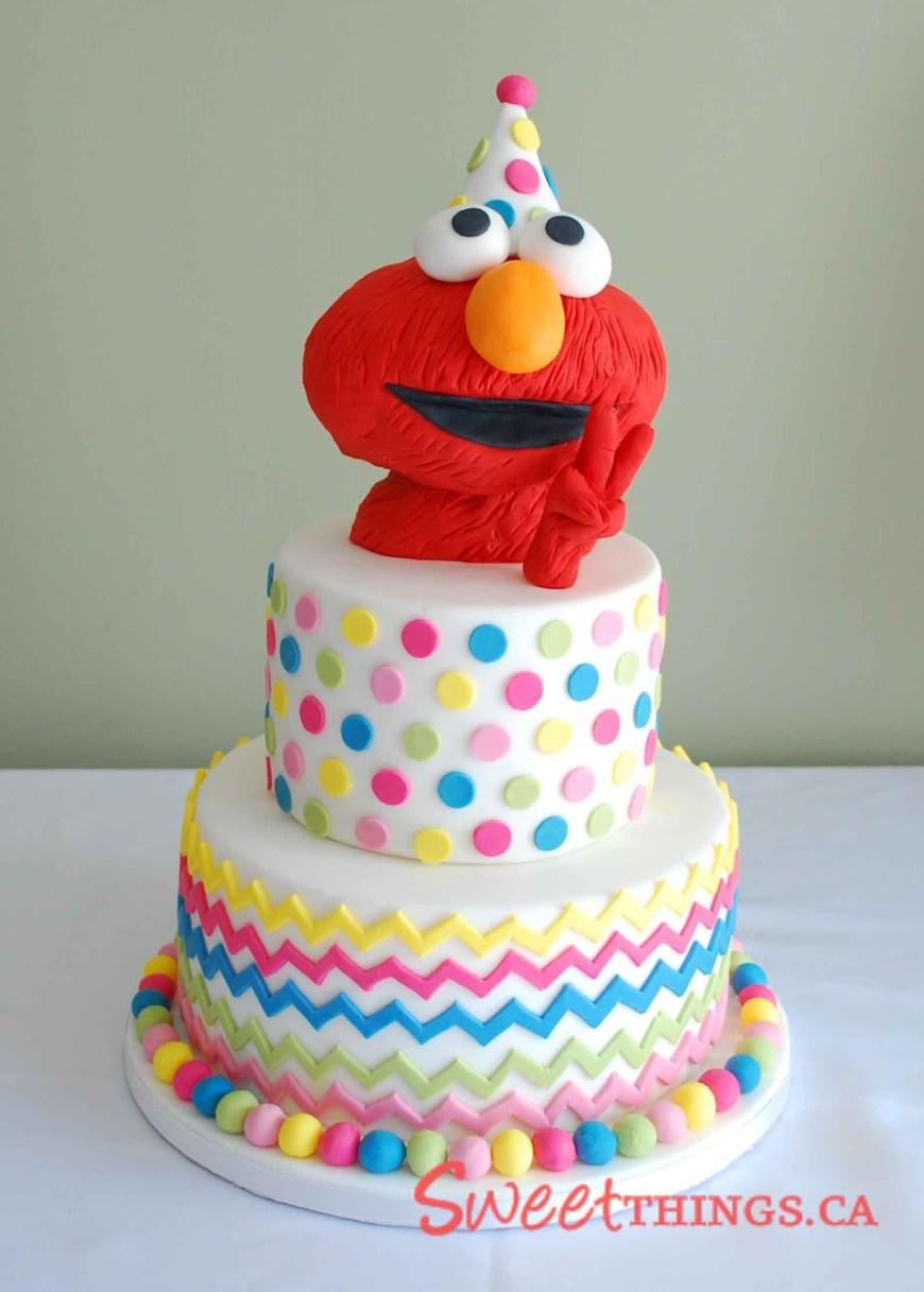 2Nd Birthday Cake Sweetthings 2nd Birthday Cake Elmo Cake