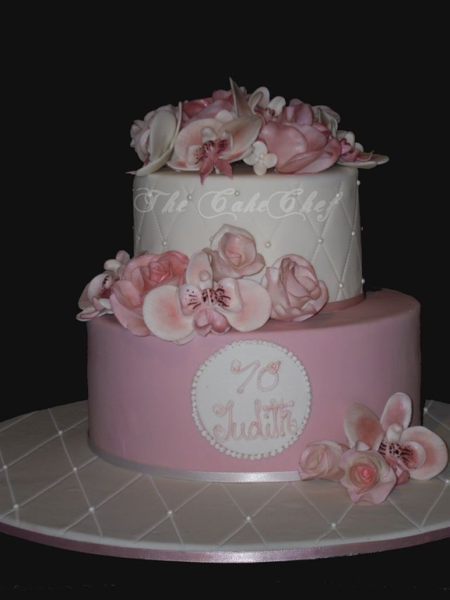 70Th Birthday Cake Ideas 70th For Mom Adult