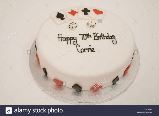 70Th Birthday Cake Ideas 70th Stock Photos Images