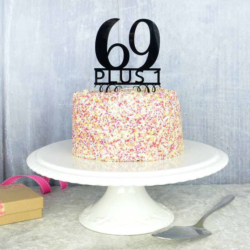 70Th Birthday Cake Ideas 70th Birthday Cake Topper Pink And Turquoise Notonthehighstreet