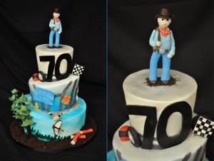 70Th Birthday Cakes 12 70th Birthday Cakes For Men Photo Man 70th Birthday Cake