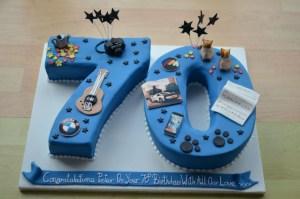 70Th Birthday Cakes Personalised 70th Birthday Cake