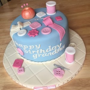 70Th Birthday Cakes Sewing Themed 70th Birthday Cake Bessies Bakery